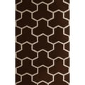 Safavieh Handmade Moroccan Cambridge Dark Brown/ Ivory Wool Area Rug (4' x 6')