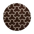 Safavieh Handmade Moroccan Cambridge Geometric Dark Brown/ Ivory Wool Rug (6' Round)