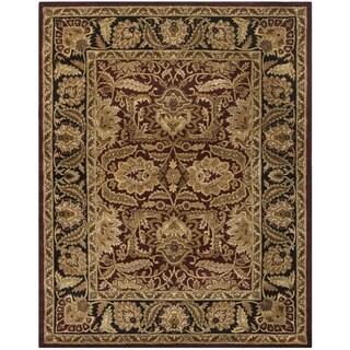 Safavieh Handmade Classic Burgundy/ Black Wool Rug (6' x 9')