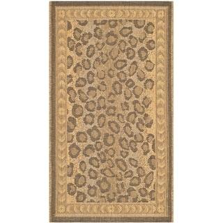 Safavieh Indoor/ Outdoor Courtyard Natural/ Gold Rug (1'8 x 2'8)
