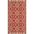 Safavieh Indoor/ Outdoor Courtyard Red/ Cream Rug (2' x 3'7)