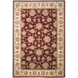 Safavieh Handmade Persian Court Red/ Ivory Wool/ Silk Rug (5' x 8')