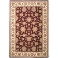 Safavieh Handmade Persian Court Red/ Ivory Wool/ Silk Rug (6' x 9')