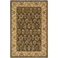 Safavieh Handmade Persian Court Green/ Ivory Wool/ Silk Rug (6' x 9')