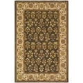 Safavieh Handmade Persian Court Green/ Ivory Wool/ Silk Rug (7'6 x 9'6)