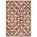 Safavieh Indoor/ Outdoor Veranda Cream/ Red Rug (5'3 x 7'7)