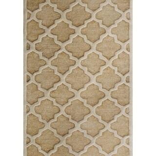 Safavieh Handmade Precious Beige Polyester/ Wool Rug (3' x 5')