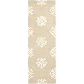 Safavieh Handmade Soho Beige/ Ivory Wool/ Viscose Rug (2'6 x 10')