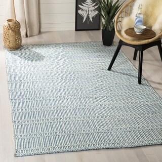 Safavieh Hand-woven Sumak Light Blue Wool Rug (4' x 6')