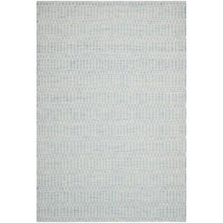 Safavieh Hand-woven Sumak Light Blue Wool Rug (8' x 10')