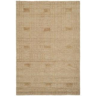 Safavieh Hand-knotted Tibetan Gold Wool Rug (4' x 6')