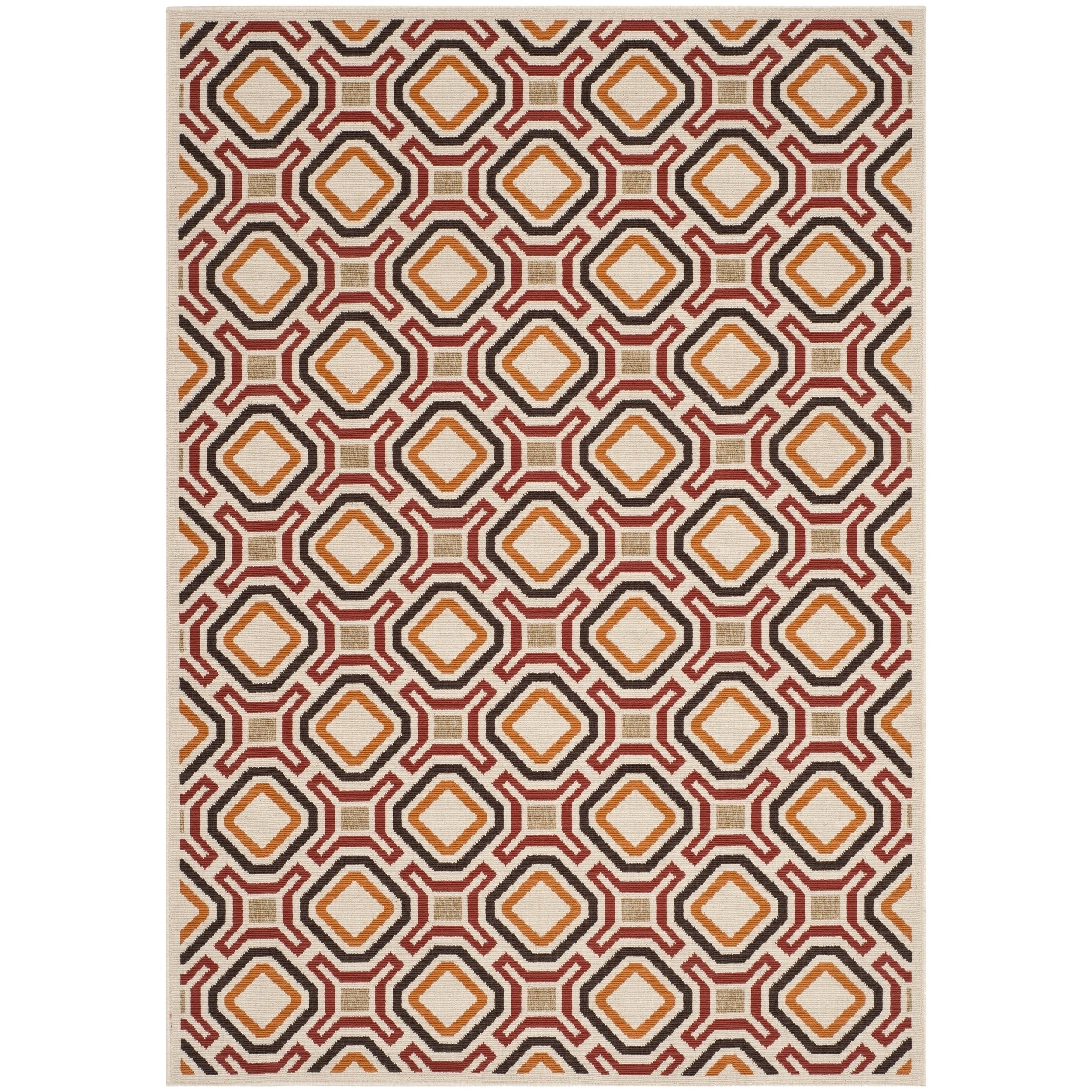 Safavieh Veranda Cream/ Red Geometric Indoor/ Outdoor Rug (8' x 11'2) at Sears.com