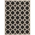 Safavieh Indoor/ Outdoor Courtyard Black/ Beige Rug (8' x 11')