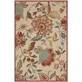 Safavieh Indoor/ Outdoor Four Seasons Ivory/ Rust Rug (3'6 x 5'6)