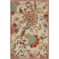 Safavieh Indoor/ Outdoor Four Seasons Ivory/ Rust Rug (5' x 8')
