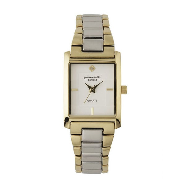 Pierre Cardin Women's Two-tone White Dial and Diamond Accent Watch