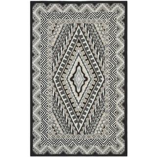 Safavieh Indoor/ Outdoor Four Seasons Ivory/ Grey Rug (5' x 8')