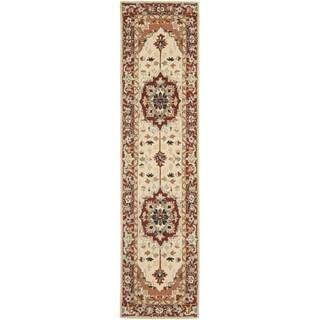 Safavieh Hand-hooked Chelsea Red/ Ivory Wool Rug (2'6 x 6')