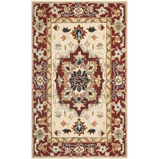 Safavieh Hand-hooked Chelsea Red/ Ivory Wool Rug (2'9 x 4'9)