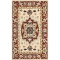 Safavieh Hand-hooked Chelsea Red/ Ivory Wool Rug (2'9 x 4'9)