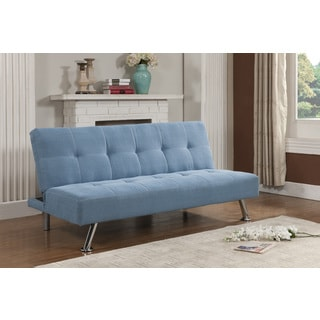 K b blue klik klak sofa bed overstock shopping great for Sofa bed overstock
