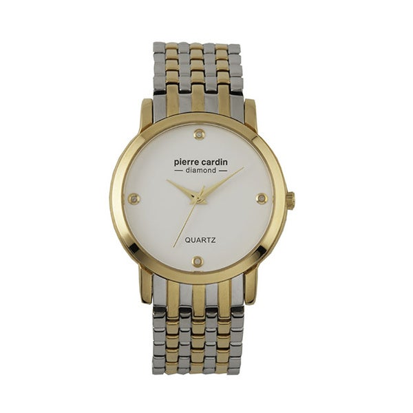 Pierre Cardin Men's Two-tone and Diamond Accent Watch
