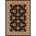 Safavieh Majesty Black/ Cream Area Rug (5'3 x 7'6)
