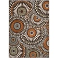 Safavieh Indoor/ Outdoor Veranda Chocolate/ Terracotta Rug (4' x 5'7)