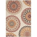 Safavieh Indoor/ Outdoor Veranda Cream/ Red Area Rug (4' x 5'7)