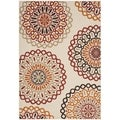 Safavieh Indoor/ Outdoor Veranda Cream/ Red Rug (6'7 x 9'6)