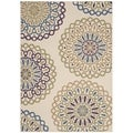 Safavieh Indoor/ Outdoor Veranda Cream/ Green Rug (8' x 11'2)
