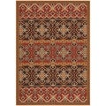 Safavieh Indoor/ Outdoor Veranda Red/ Chocolate Rug (8' x 11'2)