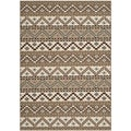 Safavieh Indoor/ Outdoor Veranda Cream/ Brown Rug (8' x 11'2)