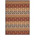 Safavieh Indoor/ Outdoor Veranda Red/ Chocolate Rug (4' x 5'7)