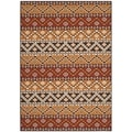 Safavieh Indoor/ Outdoor Veranda Red/ Chocolate Rug (6'7 x 9'6)