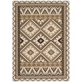 Safavieh Veranda Cream/ Brown Indoor/ Outdoor Polypropylene Rug (6'7 x 9'6)