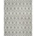 Safavieh Handmade Moroccan Chatham Dark Gray/ Ivory Wool Area Rug (5' x 8')