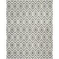 Safavieh Handmade Moroccan Chatham Geometric-pattern Dark Gray/ Ivory Wool Rug (8' x 10')