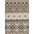 Safavieh Indoor/ Outdoor Veranda Cream/ Brown Southwestern Rug (5'3 x 7'7)
