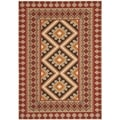 Safavieh Indoor/ Outdoor Veranda Red/ Natural Rug (5'3 x 7'7)