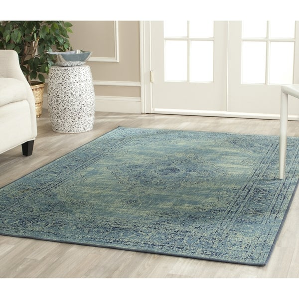 Safavieh Vintage Turquoise Viscose Area Rug 8 10 X 12 2