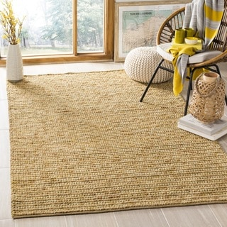 Safavieh Hand-woven Bohemian Gold Jute Rug (6' Square)