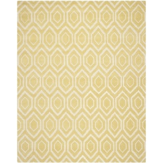 Safavieh Handmade Moroccan Chatham Light Gold/ Ivory Wool Rug (6' x 9')