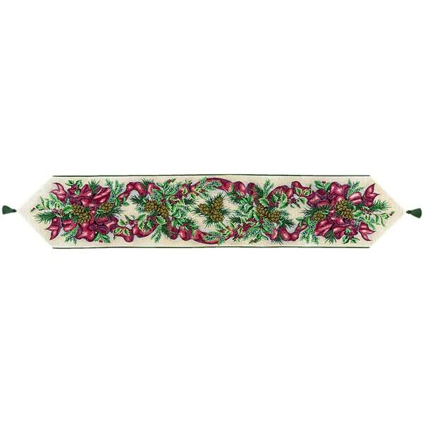 Balsam, Berries, Bows 72-inch Table Runner