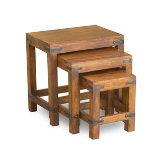 Handcrafted Rustic Nest of Tables (India)