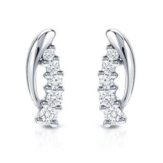 Auriya 14k White Gold 1/4ct TDW 5-Stone Diamond Earrings (H-I, SI1-SI2)
