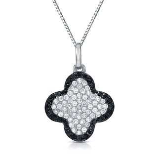 Auriya 14k Gold 1/2ct TDW Black and White Diamond Necklace (H-I, SI1-SI2)