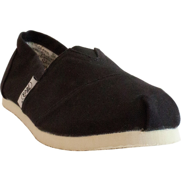 Women's Casual Black Canvas Shoes