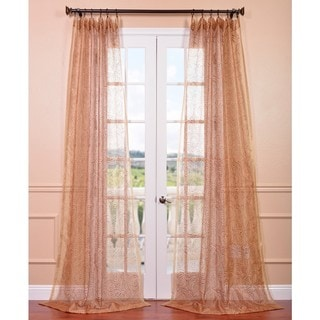 Esparanza Copper Embroidered Sheer Curtain Panel