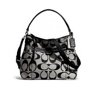 Coach 'Daisy' Signature Metallic Convertible Hobo Bag